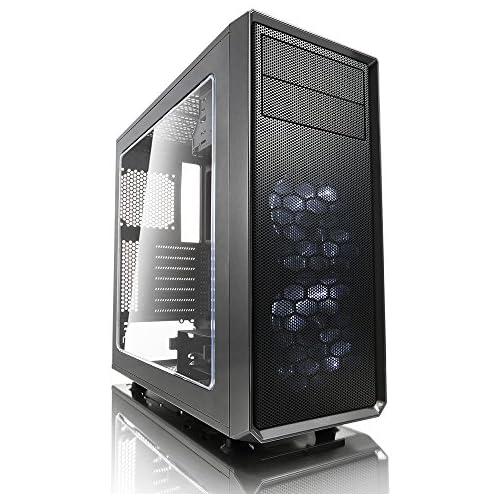 chollos oferta descuentos barato Fractal Design Focus G 2 x Ventiladores Silenciosos USB3 Ventana Panel ATX PC Caso Gris