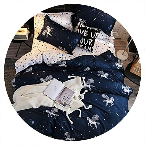 Secret-shop Bedding Set Childish Elephant Bear Eyelash Print King Queen Size Linens Duvet Cover Pillowcases Brief Bed Covers,MX,FR King 240x220cm]()