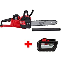 """Milwaukee M18 FUEL 16"""" Chainsaw w/Battery & Charger + FREE 2nd Battery"""