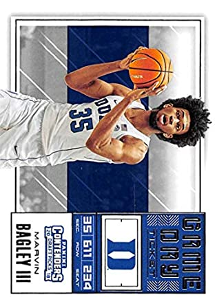 6d3115ab3010 2018-19 Panini Contenders Draft Picks Basketball Game Day Tickets  3 Marvin  Bagley III