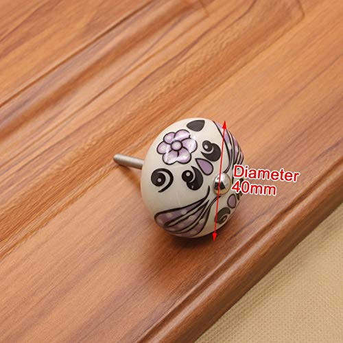 - Best Quality - Cabinet Pulls - 40mm Hand-Painted Ceramic Drawer Knobs Porcelain Rural Cabinet Knob Cupboard Handles Mediterranean Furniture Handle Hardware - by HIBISCUS. - 1 PCs