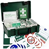 10 Person HSE Workplace First Aid Kit + FREE Safety Signs Pack of 10 (Worth £7.50)