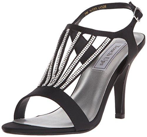 Touch Ups Women's Carmen Dress Sandal, Black Satin, 10.5 M US