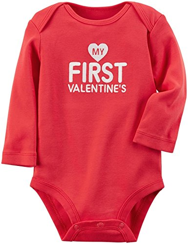 Carter's Baby Girls' Bodysuits 119g153, Red, 12 Months
