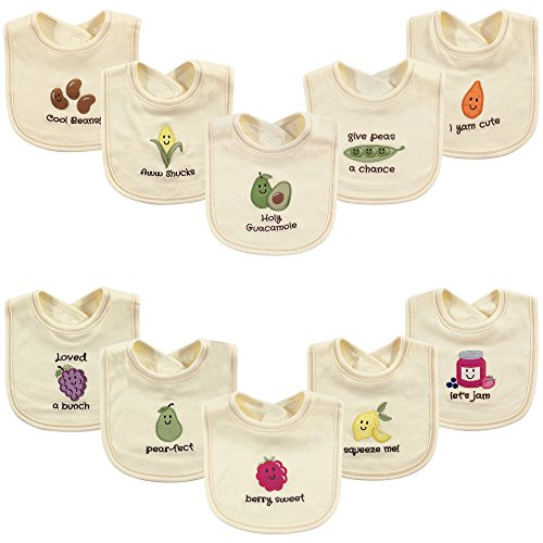 Touched by Nature Baby Organic Cotton Bibs,