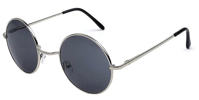 XFentech Lunettes de soleil rond rétro Cyber Goggles Steampunk Punk qualité UV400 pour hommes Femmes Or-Jaune AfboX3prF