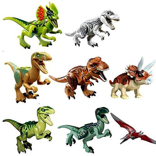 [8pcs Puzzles Figure Dinosaurs Toy Building Blocks Educational Toy for Kids] (Bible Costumes For Kids)