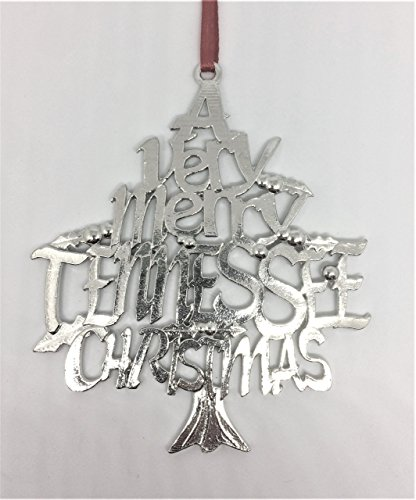 Hand Cast A Very Merry Tennessee TN Nashville Memphis Knoxville Chattanooga Christmas Pewter Ornament
