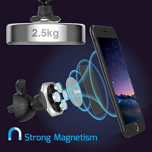 Car Mount Magnetic Veckle Universal Car Air Vent Magnet Phone Holder for iPhone 8 X 7 Plus 6S 6 5s Samsung Galaxy Note 8 S8 S8 Plus HTC U11