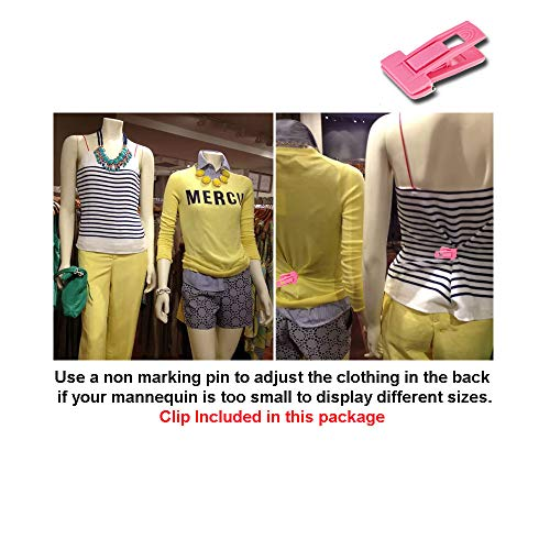10-Pack Male + Female Mannequin Torso Set, Dress Form Hollow Back Body Tshirt Display, with Stand for Counter by EZ-Mannequins for Craft Shows, Photos or Design, Easy to Assemble and Store, S-M Sizes. by EZ-Mannequins (Image #6)