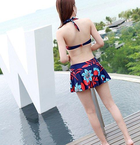 Camicetta era sottile costume da bagno tre pezzi, hot spring fragrance coperto divisa in bikini ( dimensioni : M )