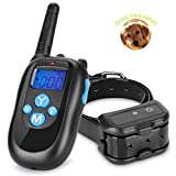 Cheap Dog Training Collar, Remote Pet Shock Collar, 100% Waterproof Rechargeable Collar 330yd Remote Dog Training Shock Collar with Beep, Vibra and Shock Electronic Collar (for 1 dog)