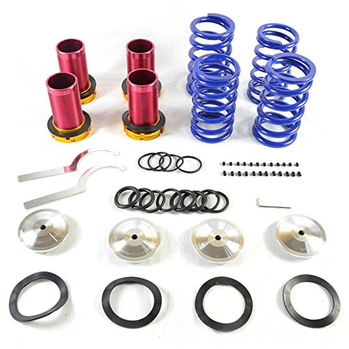 Adjustable Coilover Coil Springs Lowering Suspenion Kit for 1990-2001 Acura Integra | Honda 1988-2000 Civic & 1993-1997 Civic del Sol & 1988-1991 CRX (Del Sol Buddy Club)