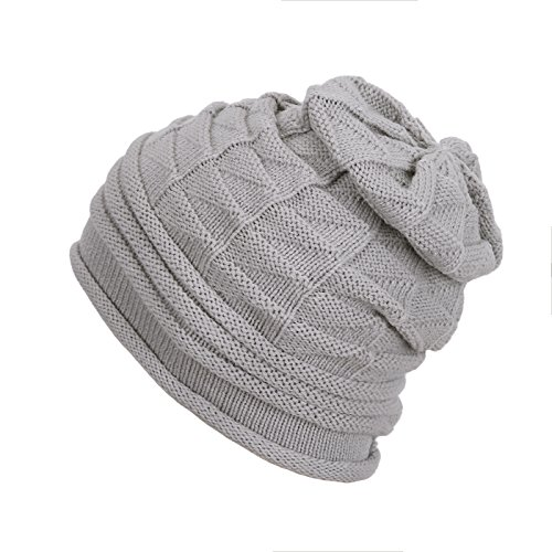 HDE Knit Beanie Warm Chunky Soft Stretch Oversized Cable Knit Slouchy Skully Hat ()
