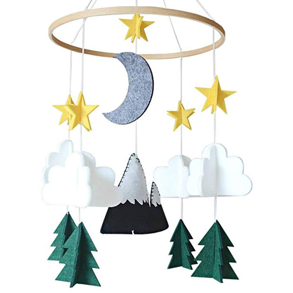 Berceau mobile pour gar/çons et filles d/écoration de chambre de nuit /étoil/ée Woodland Mobile pour lit de b/éb/é