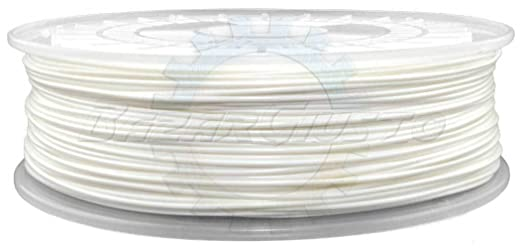 Hilo impresora 3d de 1.75 mm, filamento pla, White, Blanco, 300 gr ...