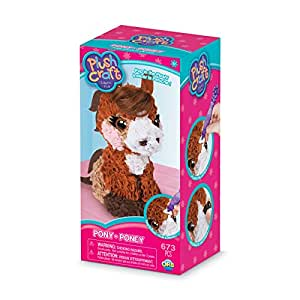 """The Orb Factory Pony 3D Arts & Crafts, Brown/Beige/White/Pink, 5"""" x 4"""" x 10"""""""