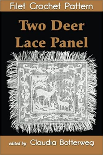 Two Deer Lace Panel Filet Crochet Pattern Complete Instructions And