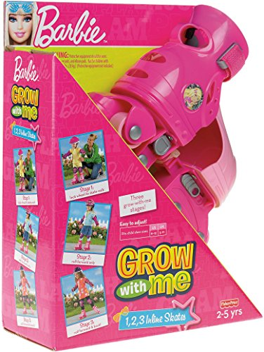 Fisher-Price Barbie Grow with me 1,2,3 Inline Skates