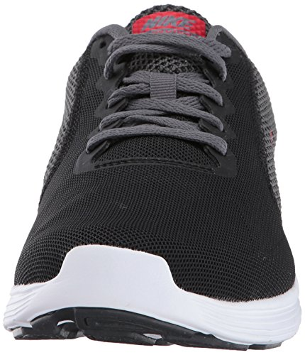 Nike Herren Revolution 3 Schwarz (Black/University Red/Dark Grey)