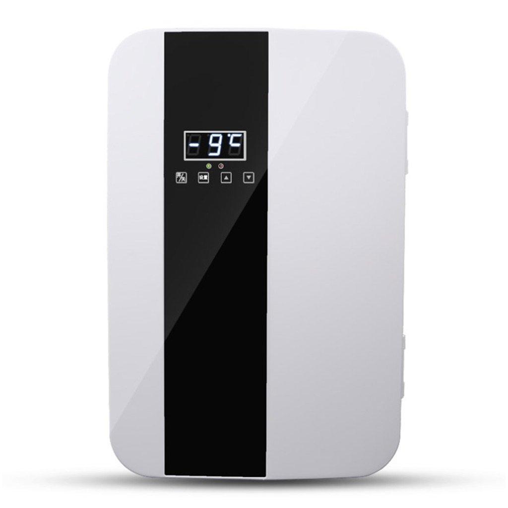 QIHANGCHEPIN Portable Car Refrigerator 22L 12V DC 220V AC Dual Core Refrigeration Heating Mini Compact Car Dual Purpose Refrigerator 34 29 45cm (Color Silver) (Color : Black and white)