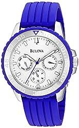 Bulova Men's 96N105 Analog Display Japanese Quartz Blue Watch