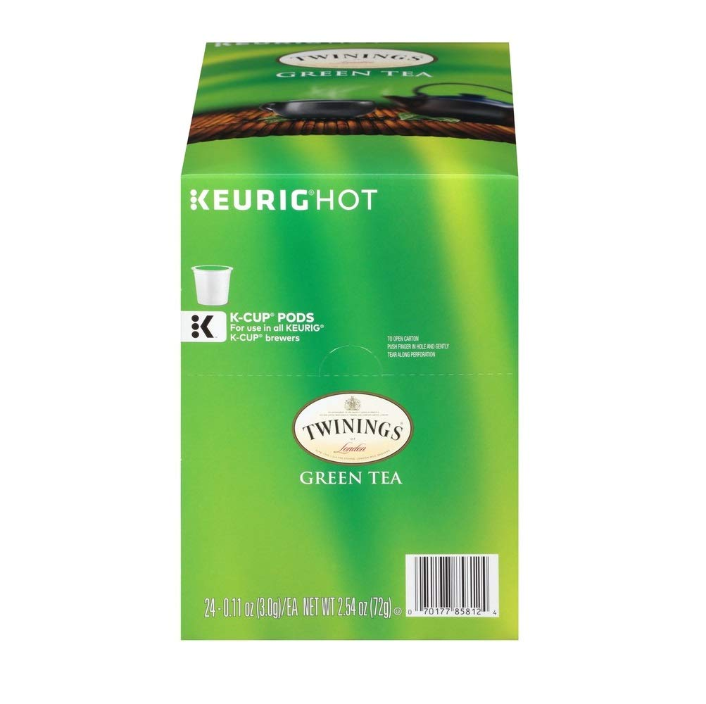 Twinings of London Green Tea K-Cups for Keurig, 24 Count (Pack of 2)