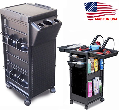 N20-H Salon Roll-About Trolley Cart Open Non Lockable w/Tool Holder Made in USA by Dina Meri