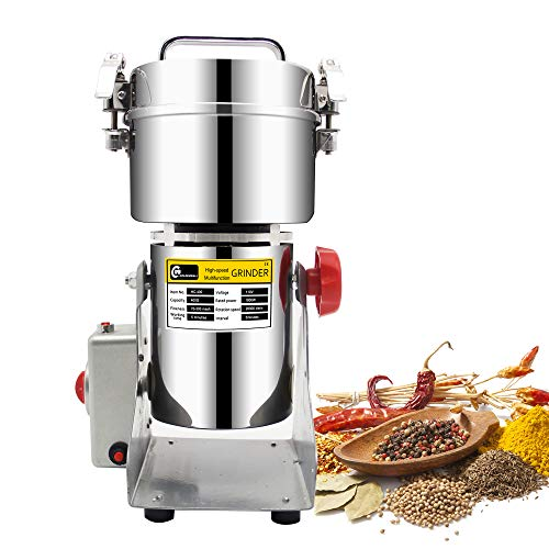 CGOLDENWALL 300g stainless steel electric high-speed grain grinder mill family medicial powder machine commercial Cereals grain Mill Herb Grinder,pulverizer 110v gift for mom, - Soda Can Grinder