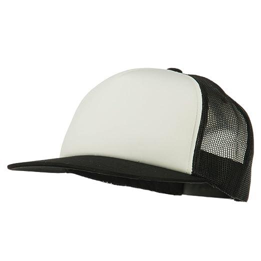 14b2d8401 Sonette/Yupoong Foam Front Mesh Trucker Snapback Cap - Black White Black  OSFM
