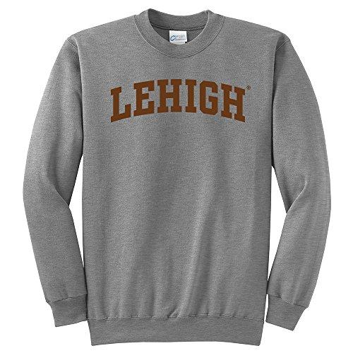 NCAA Lehigh Mountain Hawks Arch Classic Crewneck Sweatshirt, Medium, Light Heather (University Ncaa Classic Fleece)
