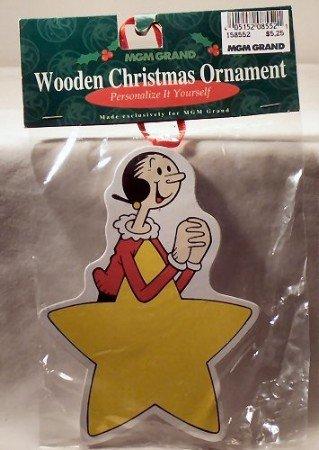 MGM Grand Olive Oyl Wooden Ornament (Olive Oyl)