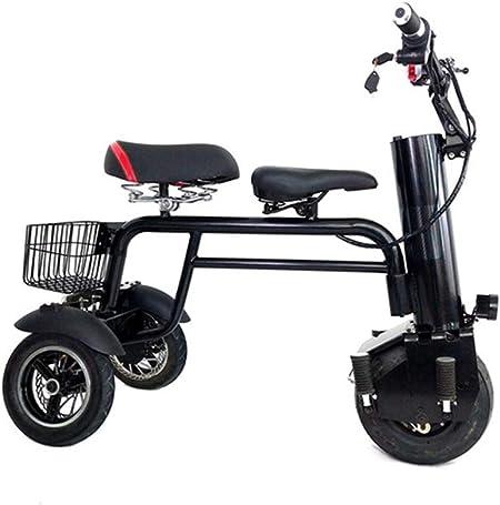 HS-QFQ Scooter Eléctrico 30 Km Batería Batería De Tres Ruedas Transporte De Personas De Edad Motor Sin Escobillas con Estante Cojín para Niños Bicicleta Eléctrica Desmontable: Amazon.es: Hogar