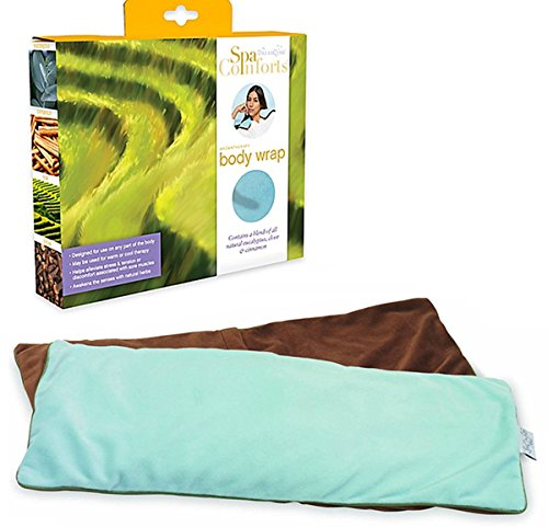 SPA COMFORTS AROMATHERAPY WARMING/COOLING BODY WRAP - MINT/BROWN