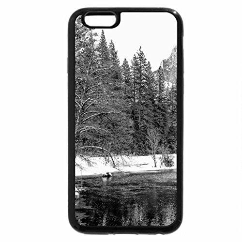 iPhone 6S Plus Case, iPhone 6 Plus Case (Black & White) - beautiful yosemite river in winter hdr