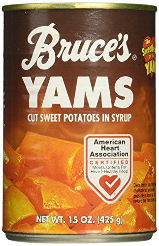 - Bruce's, Yams, Cut Sweet Potatoes in Syrup, 15oz Can (Pack of 6) (Choose Can Sizes Below) (15oz Can)