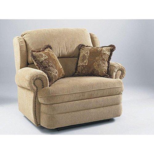 Hancock Leather Furniture (203-14-63/5163-21 Lane Hancock Snuggler Recliner in Bark (SPecial Order Leather/Vinyl))