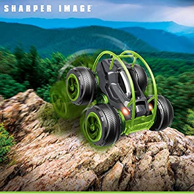 Sharper Image Orbit Tumbler RC Car Toy for Kids, Remote Control Stunt Spinning Children's Cars, Long Range 2.4 GHz Racing, 360 Power Flips: Toys & Games