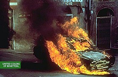 magazine-ad-for-benetton-1992-controversy-series-burning-car-scene