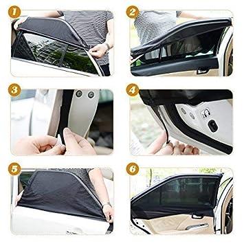 Sombrilla para ventana de coche Tospanic M ni/ños ni/ños y perros Sombrilla de coche Bloqueador protector de malla transpirable Ventanas traseras Protecci/ón UV m/áxima para beb/és