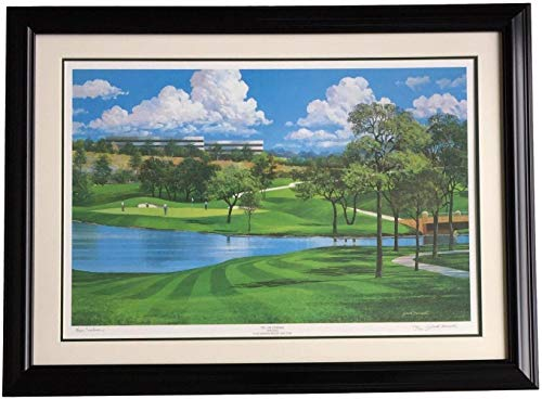 Byron Nelson Signed Framed 25x35 TPC Lithograph LE /500 by Jack Ferrell SI COA - Autographed Golf Art