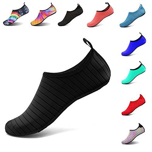 LK Rápido LEKUNI de de black Natación Unisex Agua C de Respirable Calzado de Playa Piscina Secado de Agua Zapatos Soles Zapatos Color vcvrOg1wBq