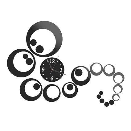 La cabina 3d reloj adhesivos decorativos digital Creative Pegatina Espejo 3d reloj acrílico pegatinas moda decoración