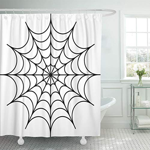 Emvency Shower Curtain Abstract Spider Design Animal Markings Arachnid Circular Clip Shower Curtains Sets with Hooks 60 x 72 Inches Waterproof Polyester Fabric -
