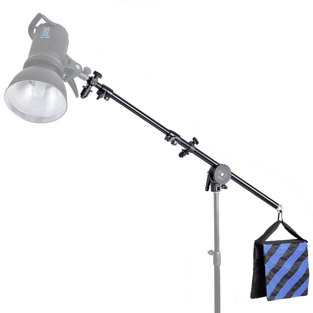 Neewer 30''-75''/76-190cm Swivel Head Aluminum Alloy 1/4'' Thread Mount Boom Arm Holder with Sandbag for Reflector,LED Video Light,Strobe Light,Monolight and Other Photographic Equipment by Neewer (Image #5)