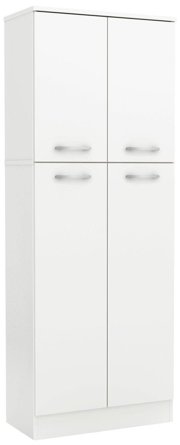 South Shore 4-Door Storage Pantry with Adjustable Shelves, Pure White by South Shore