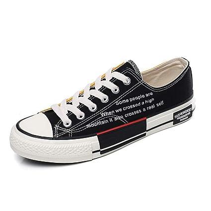 H.L Primavera y Verano Moda Hombres Zapatillas de Lona Baja Estudiantes Salvajes Yin y Yang Zapatos