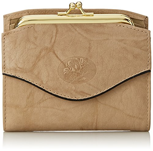 Buxton Heiress French Purse Wallet, Taupe, One Size