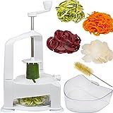 kitchen active spiralizer - Brieftons Vertico Spiralizer: Vegetable Spiral Slicer, Fresh Veggie Spaghetti & Pasta Maker for Low Carb Healthy Vegetable Meals