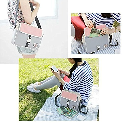 Use S Daypack Sling Winneg Work Unisex Grey Shoulder Vintage Daily Bag Canvas For Messenger School OxA7wqFgq